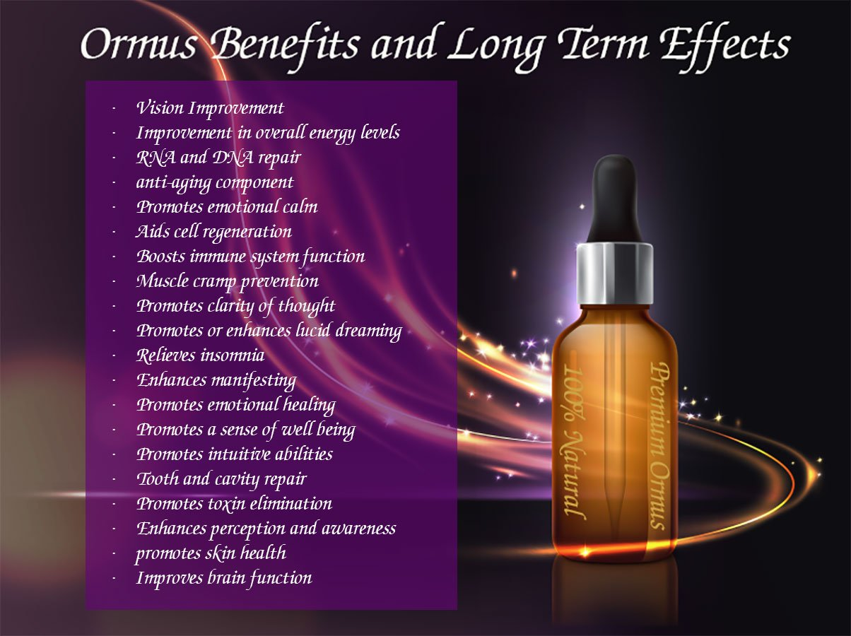 Ormus Benefits infographic